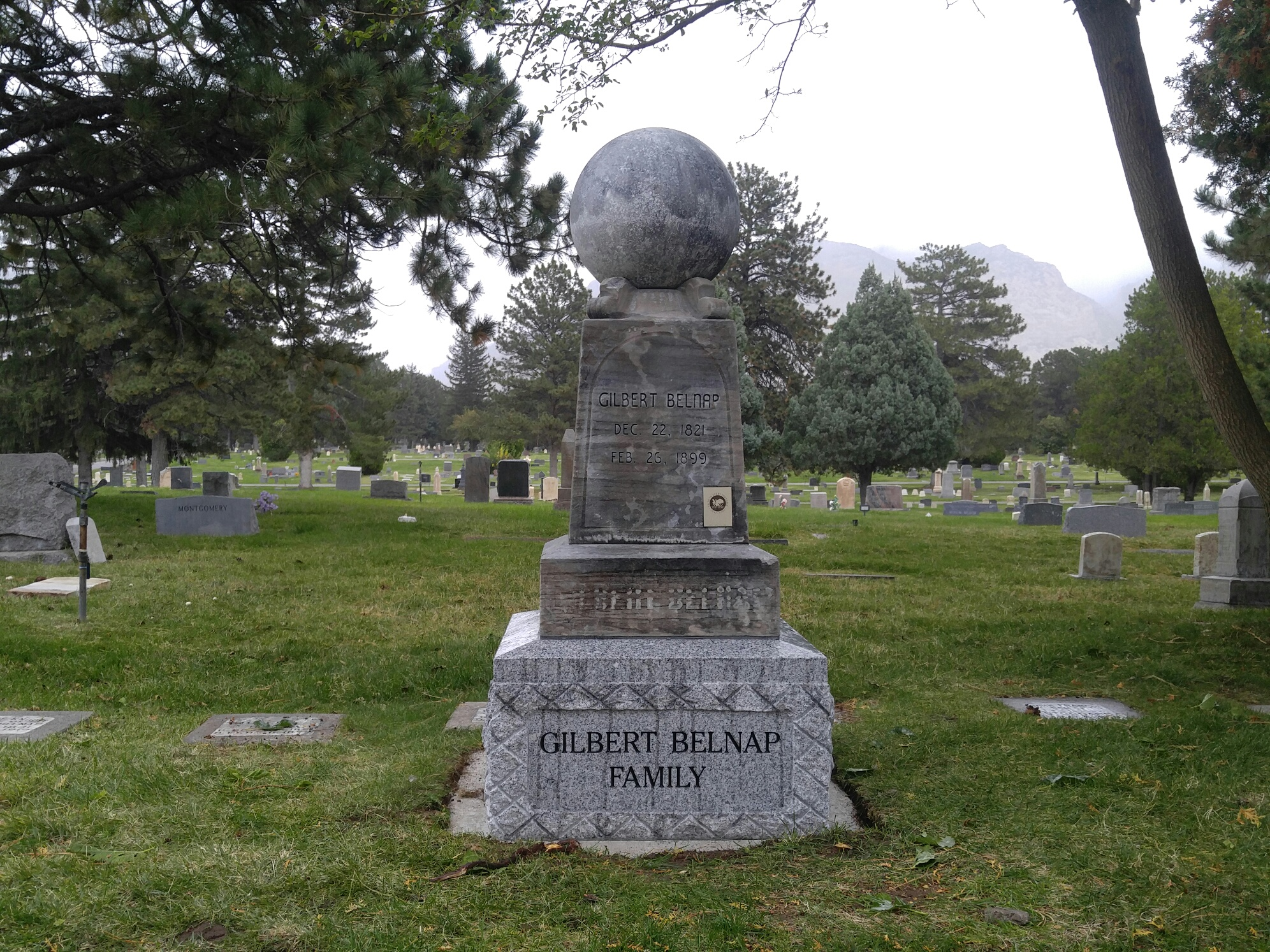 Gilbert Belnap Family Monument Rededication Announcement